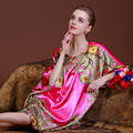 AFUMAN Clássico lingerie sexy faux seda camisola feminina tamanho grande camisa bat sleepwear roupão de banho roupão tentação camisola
