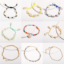 2019 New Sea Shell Anklets For Women Bohemian Colorful Vintage Handmade Anklet Bracelet on Leg Beach Ladies Ocean Jewelry(China)