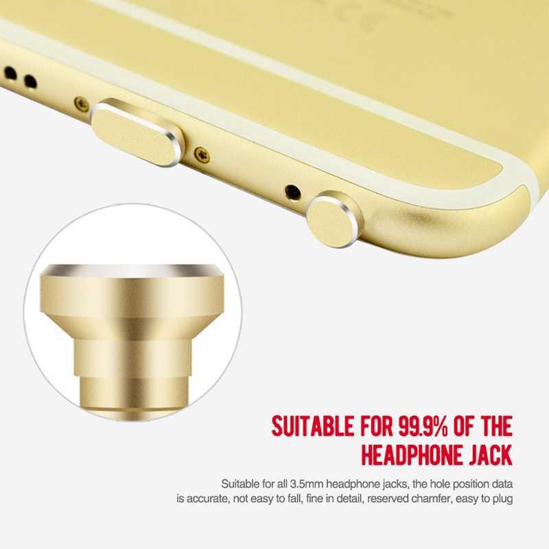 Universal Debu Plus untuk iPhone 8 7 Plus 6 S 6 Plus 5 5 S SE untuk iPad Pengisian Port earphone Jack USB Matel Debu Plug Set untuk Ipod