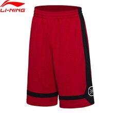 Li-Ning Для мужчин Уэйд серии шорты дышащая подкладка конкурс Спортивные шорты AKSM251 MKY303
