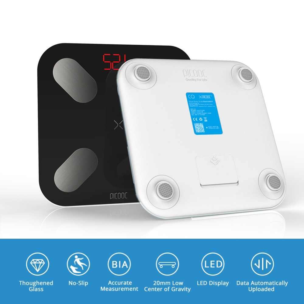 بيكوك مي ني الطابق جداول ميزان وزن الجسم الرقمي قياس 13 بيانات مثل B mi الذكية وزنها جداول مع التطبيق 150 كجم