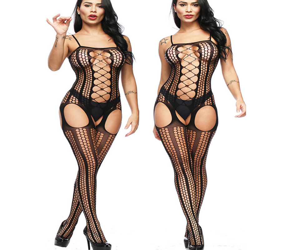 Sexy lingerie sexy costumes sex products black one piece fishnet body stockings teddy netting Jacquard underwear intimates women|costumes hommes|costume capecostume cloak - AliExpress