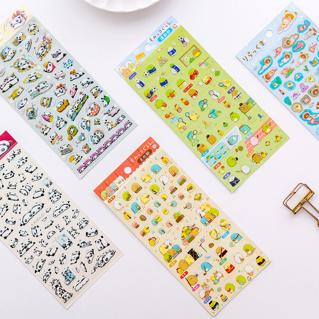 20 pcs/pack Stationery Stickers Kawaii Tarepanda Diary Planner Decorative Mobile Stickers Scrapbooking DIY Craft Stickers