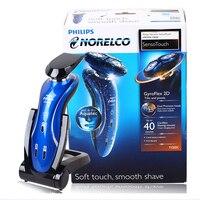 Philips Мужская электрическая бритва Водонепроницаемая RQ1150X синяя с триммером для волос и секатором для перезаряжаемой мощности 1 час быстрая