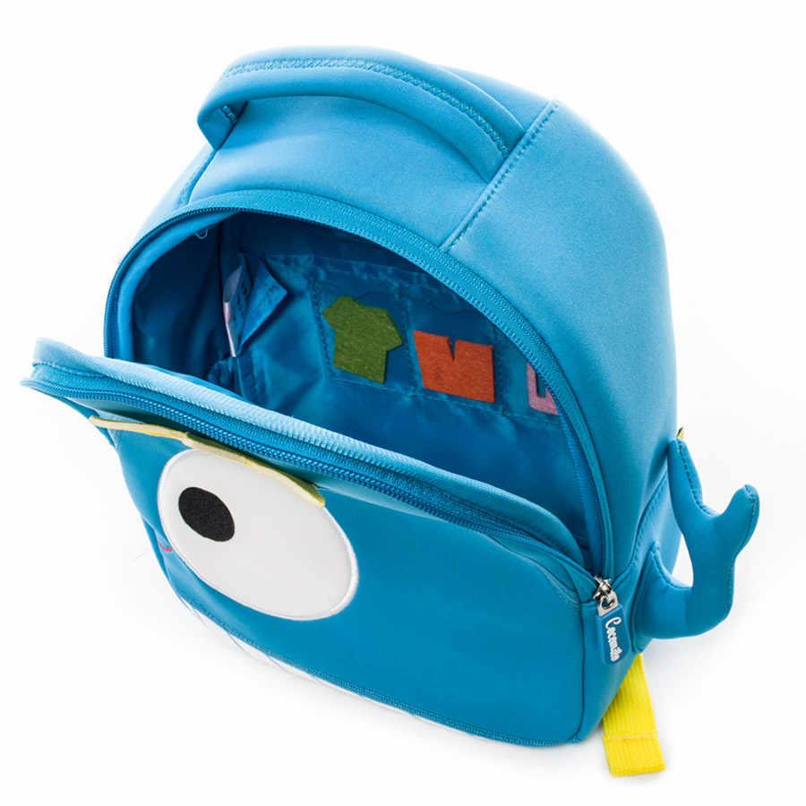 Cocomilo Bayi 3D Model Paus Anak-anak Tas Bayi Anti Hilang Tas Sekolah untuk 2-6 Tahun Anak Laki-laki dan Perempuan bagpack Ransel Tahan Air Ringan