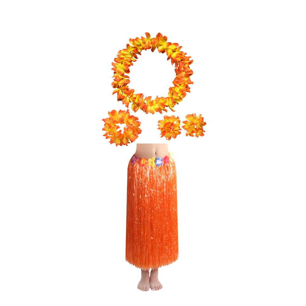 5 шт./компл./комплект, Гавайская Юбка LuauПовязка на голову ожерелье браслет горячий