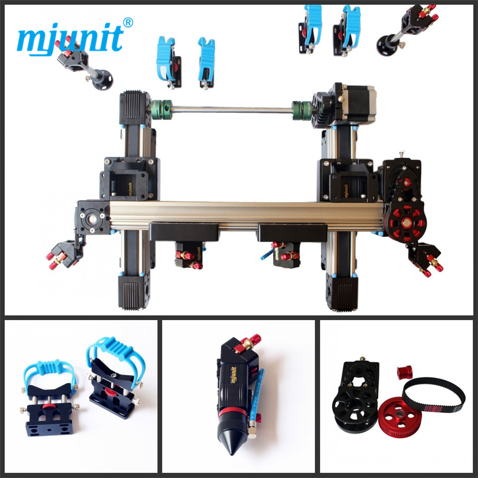 mjunit 1000x1000mm Double head non - metal and cloth cutting laser engraving machine 500w co2 laser cutting metal machine head and non metal mixed cut head motor and driver for laser cutting machine laser tools