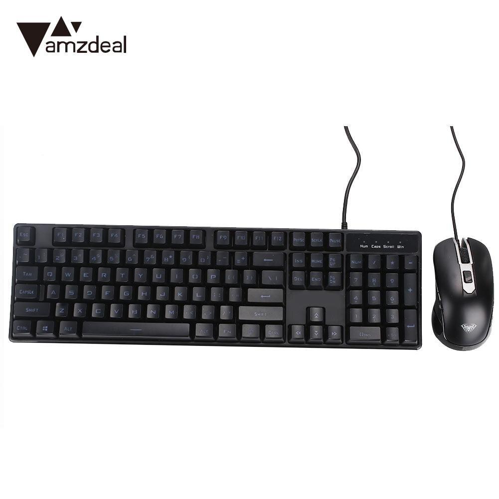 104 touches clavier et souris ensemble clavier ensemble souris ensemble bureau Durable ordinateur exquis