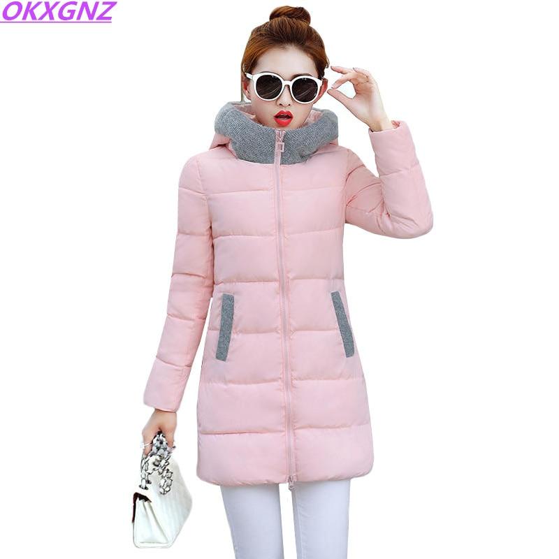 Hot Sell Winter Jacket Women 2017 New Europe Style Hooded Slim Medium Long Winter Coat Plus Size Parkas Lady Tops OKXGNZ AH320 стоимость