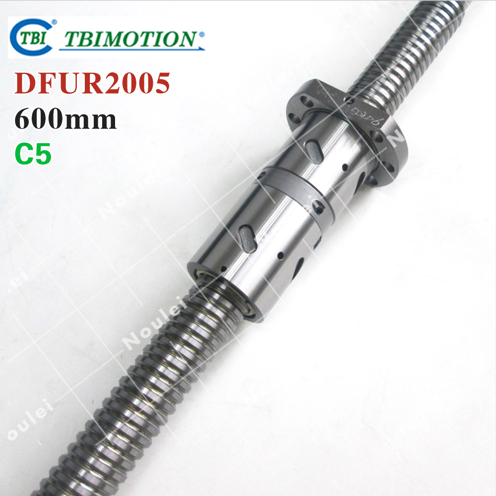 TBI 2005 C5 600mm ball screw 5mm lead with DFU 2005 ballnut + end machined for CNC diy kit DFU set горелка tbi 240 5 м esg