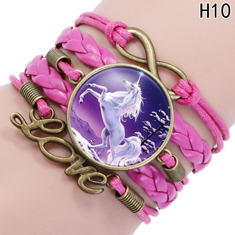 Bright For Horse Lovers Unicorn Bracelet Handmade Charm Bracelets Best Friend Gift Infinity Love Leather Wrap Multilayers New Arrivall Beneficial To The Sperm