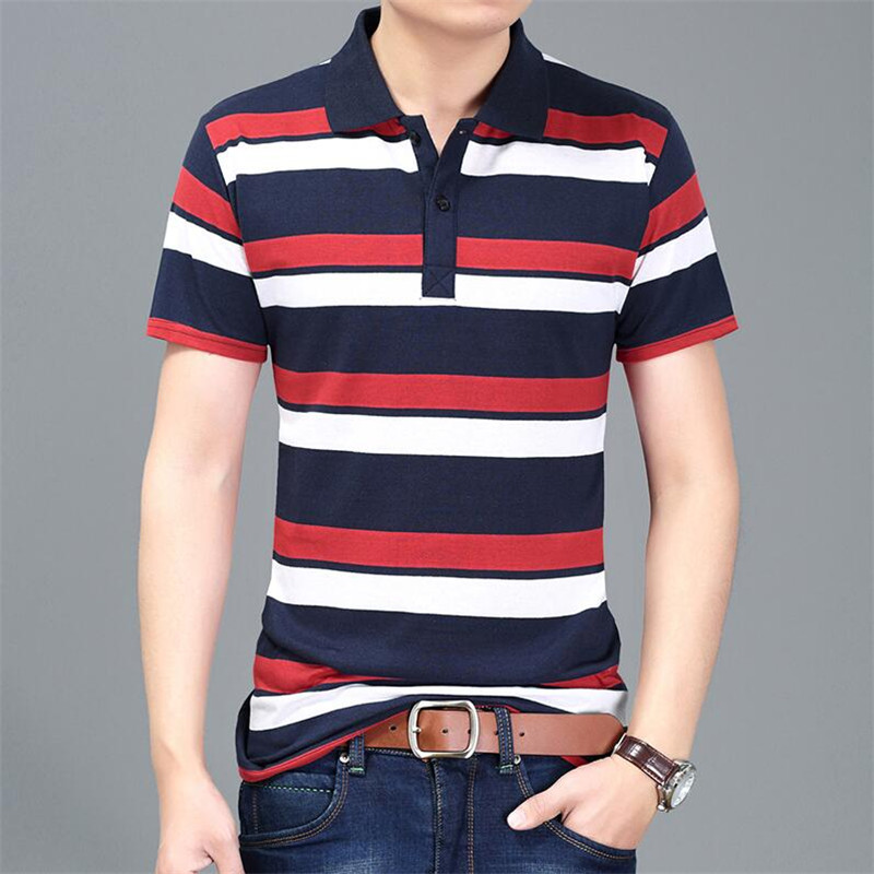 2017 Homme Summer   Polo   Shirts Short Fashion Sleeve Men   Polo   Shirt Men Camisa Masculina Men's Striped   Polo   Men   Polo   Shirt
