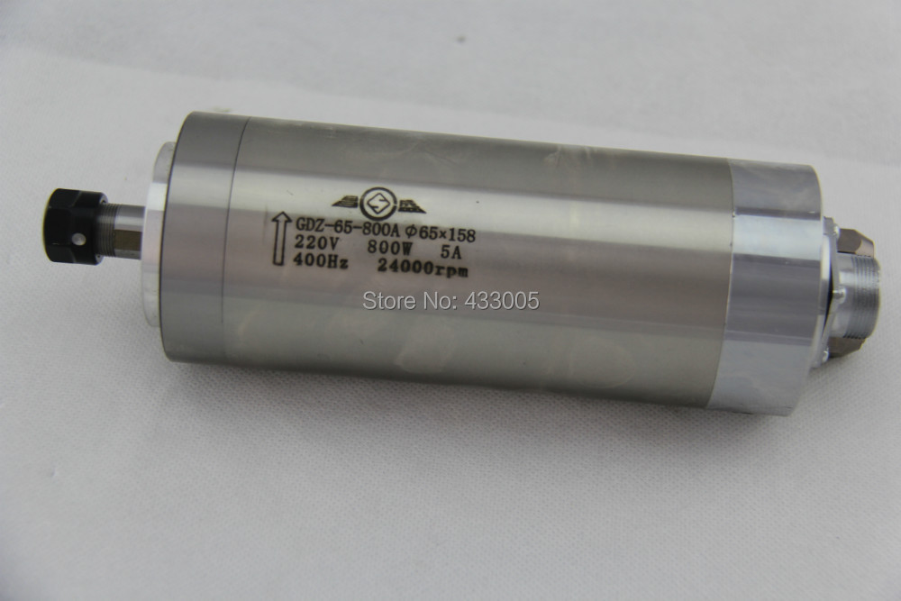 800w water cooled spindle motor ER11 220VAC wood working 0.8kw spindle motor cnc milling Water cooling 65x158mm 4 Bearings