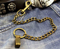 Mens Boys Brass Yellow Link Trucker Rocker Biker Keychain Key Jean Wallet Chain YL-31