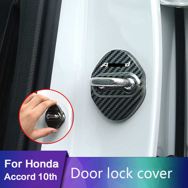 Plastic Interior Car Door Lock Protective Cover Trim 4PCS  for Honda Accord 2018
