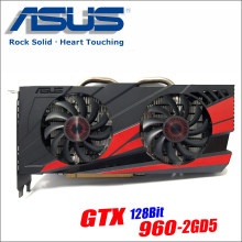 Оригинальный ASUS GTX960-DC2OC-2GD5 Видеокарта GTX 960 2 GB 128Bit GDDR5 Графика карты для nVIDIA Geforce Hdmi Dvi игры GTX960(China)
