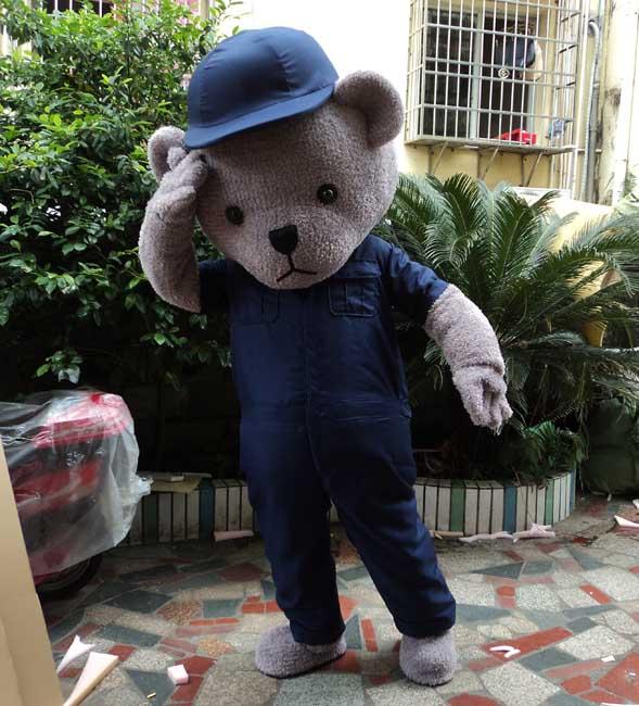 Fourrure ours en peluche mascotte Costume Teddy Costume adulte déguisements vêtements mascotte lol Costume drôle Animal ours Costume