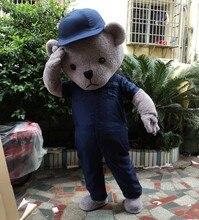 Fur Teddy Bear Mascot Costume Adult Fancy Dress Clothing mascotte lol Suit Funny Animal