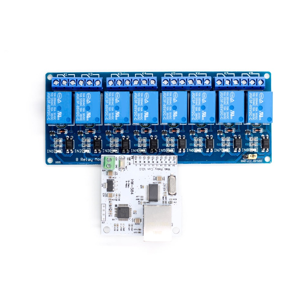 Image 5 - Ethernet Control Module LAN WAN Network WEB Server Control Module RJ45 Port and 8 Channel Relay Control ModuleIntegrated Circuits   -