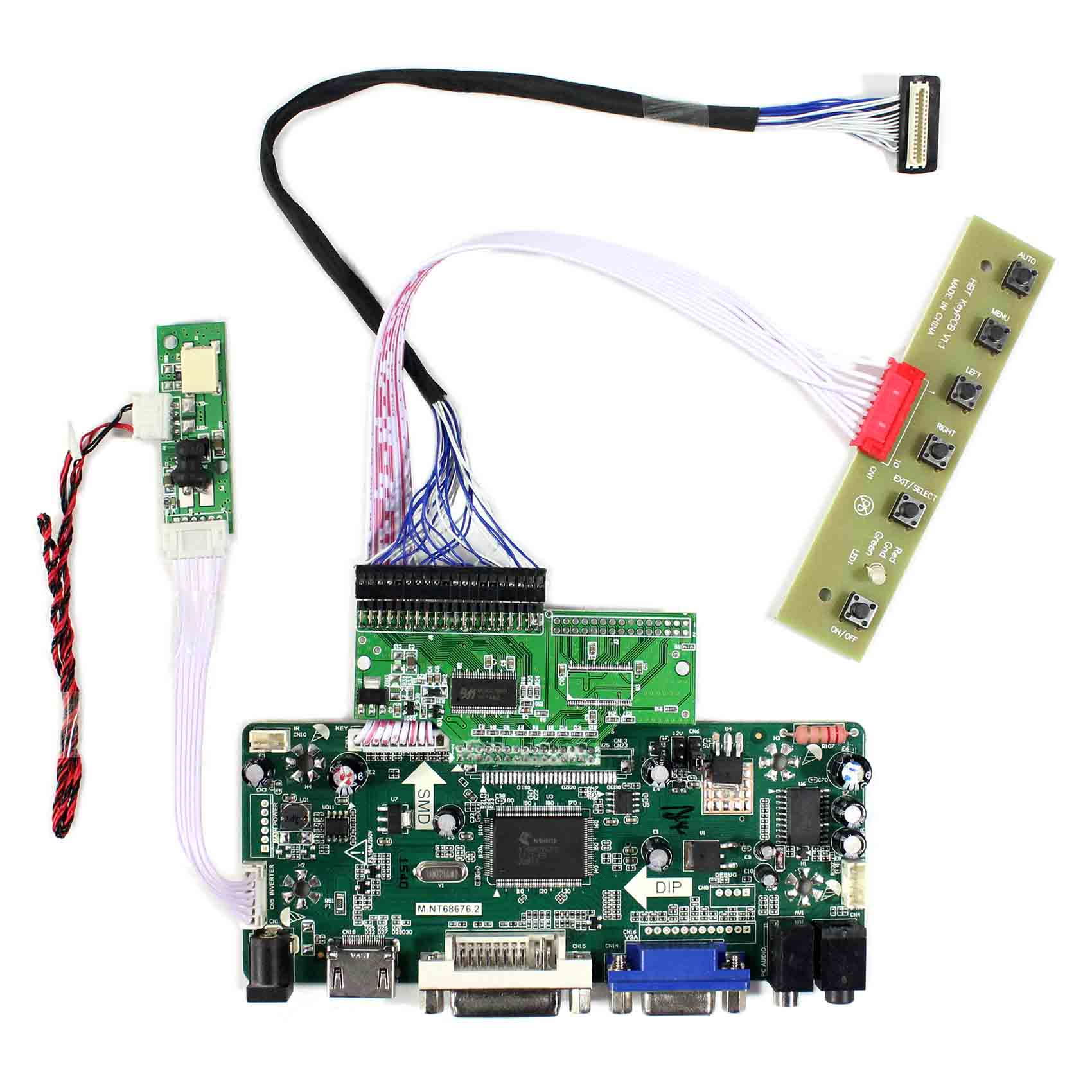 Carte contrôleur Audio HDMI + DVI + VGA + pour panneau LCD 10.4