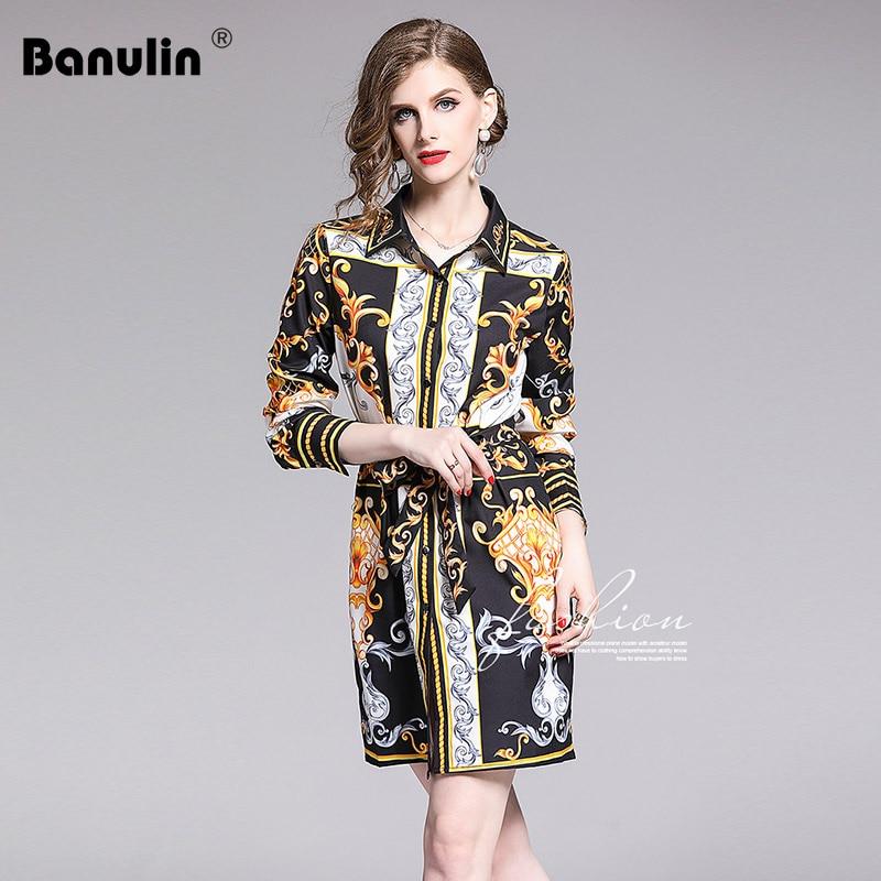 256b70d134 Banulin Runway Fashion Designer Spring Summer Dresses Women's Long ...