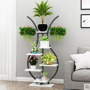 Цветочная полка для балкона, простой цветок в декоративной вазе, полка для балкона