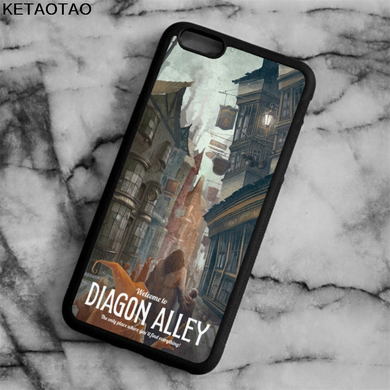 KETAOTAO Diagon Alley Harry Potter Phone Cases for iPhone 4 5S 6 6S 7 8 X PLUS for Samsung S8 NOTE Case Soft TPU Rubber Silicone