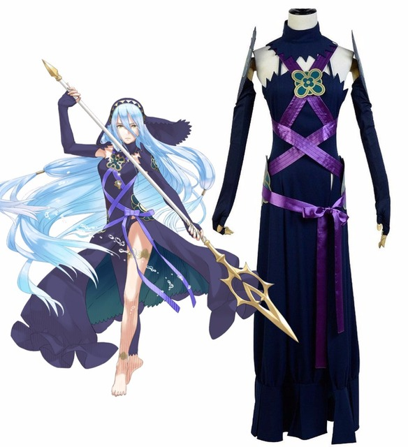 Fire Emblem Fates Azura Dunklen Kleid Cosplay Kostüm Nach Maß In