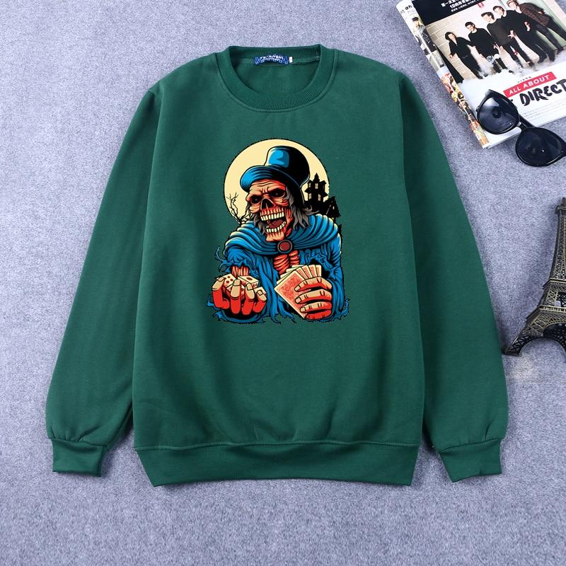 2016 Fashion brand Sweatshirt Men Hip Hop Funny Skull Full Print Hoodie Harajuku Halloween Printed Pulloveer Women RW-C10090