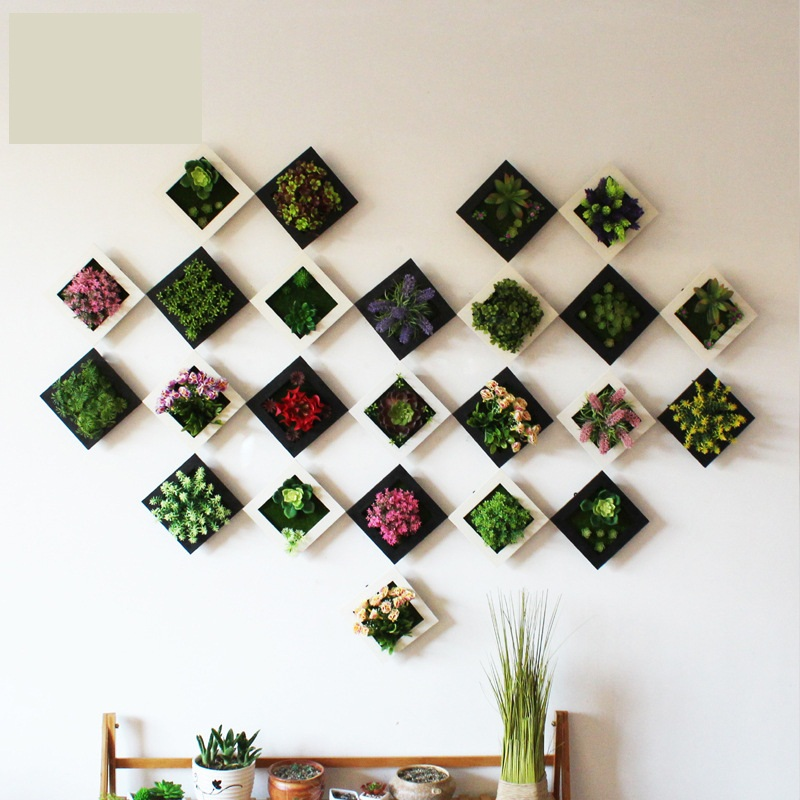 3d creative real touch plastic plants home decoration wall for Artificial decoration