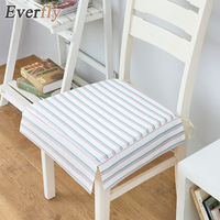 Everfly Polyester Non Slip Seat Cushion For Chair Office Striped Printed Pastoral Style Cushion Seats Pads