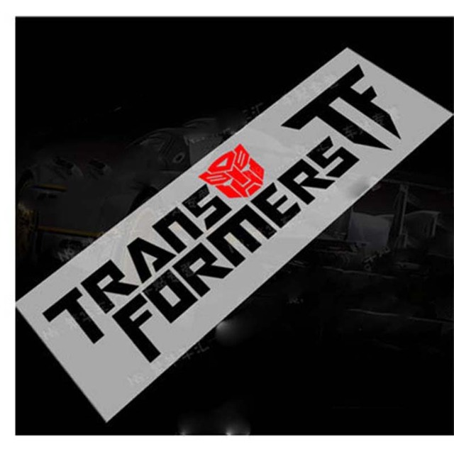 Free shipping transformer man decal sticker stylish custom made new and popular reflective material emblem