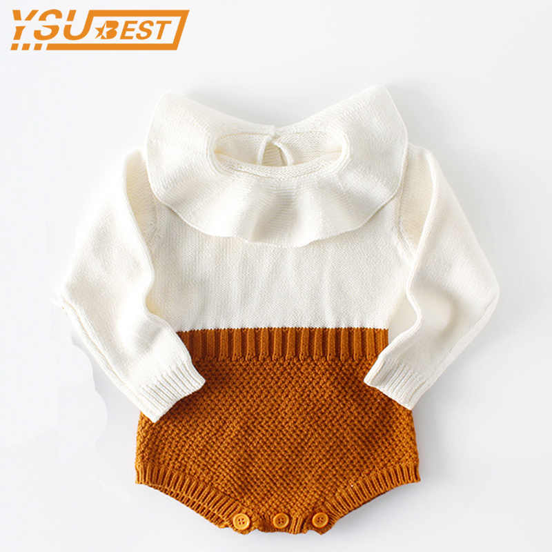 Baby   Romper   Newborn Baby Clothes 2019 Spring Autumn Cute Princess Kids Girls Boys Long Sleeve Jumpsuit Infant Knitted   Rompers