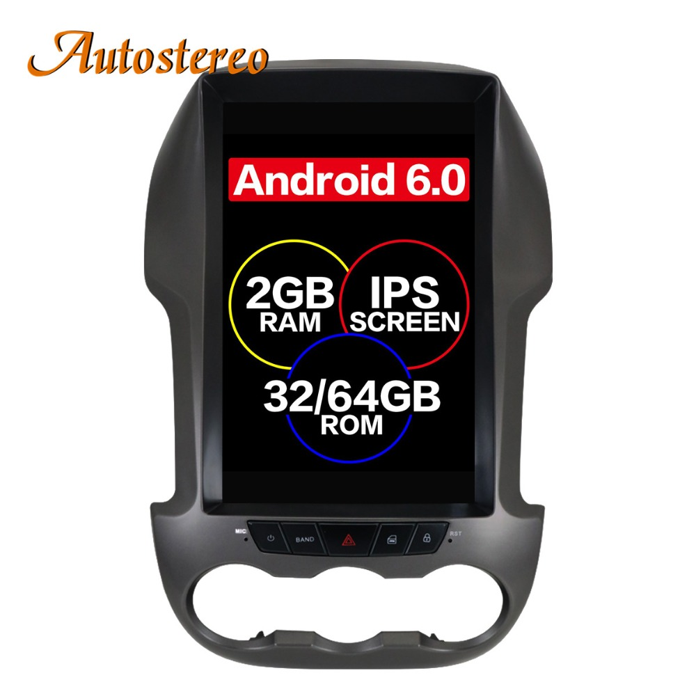 Tesla style Android 7 Car GPS Navigation For Ford Ranger F250 2011 2016 radio tape recorder