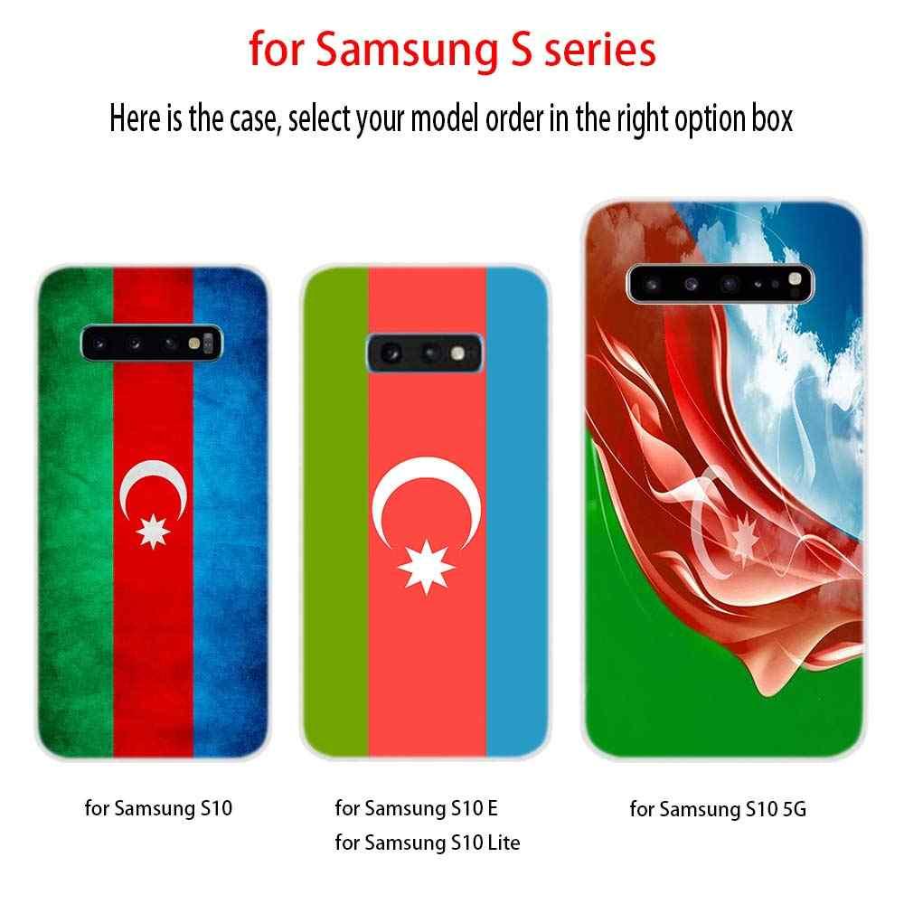 Drapeau Azerbaïdjan drapeau personnalisé coque en silicone S11 S10 S9 S8 Plus Couverture Pour Samsung S10 S7 S6 Bord Note 10 8 9 Funda Etui coques de téléphone