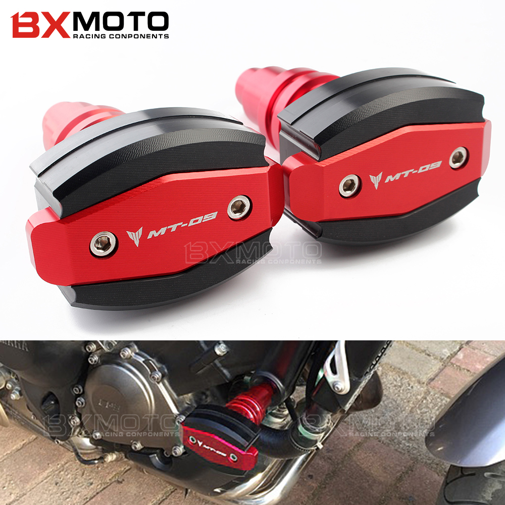 For Yamaha MT-09 mt 09 MT09 FZ-09 FZ09 2015-2018 Motorcycle CNC Frame Sliders anti Crash Engine Guard Pad Side Shield Protector for yamaha mt09 mt 09 fz09 radiator grille grill cover protector guard with side guard fz09 2013 2014 2015 mt09 mt 09 fz09 fz 09
