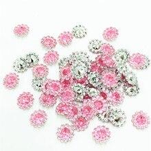 200 мм шт. 11 мм розовый цвет кристалл акриловые горный хрусталь Круглый подсолнухи Аппликации/Свадебные Ремесло украшения