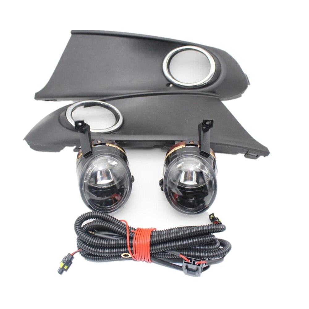 For VW Polo Vento Sedan Saloon 2011 2012 2013 2014 2015 2016 Front Halogen Fog Light Fog Lamp + Grille And Harness AssemblyFor VW Polo Vento Sedan Saloon 2011 2012 2013 2014 2015 2016 Front Halogen Fog Light Fog Lamp + Grille And Harness Assembly
