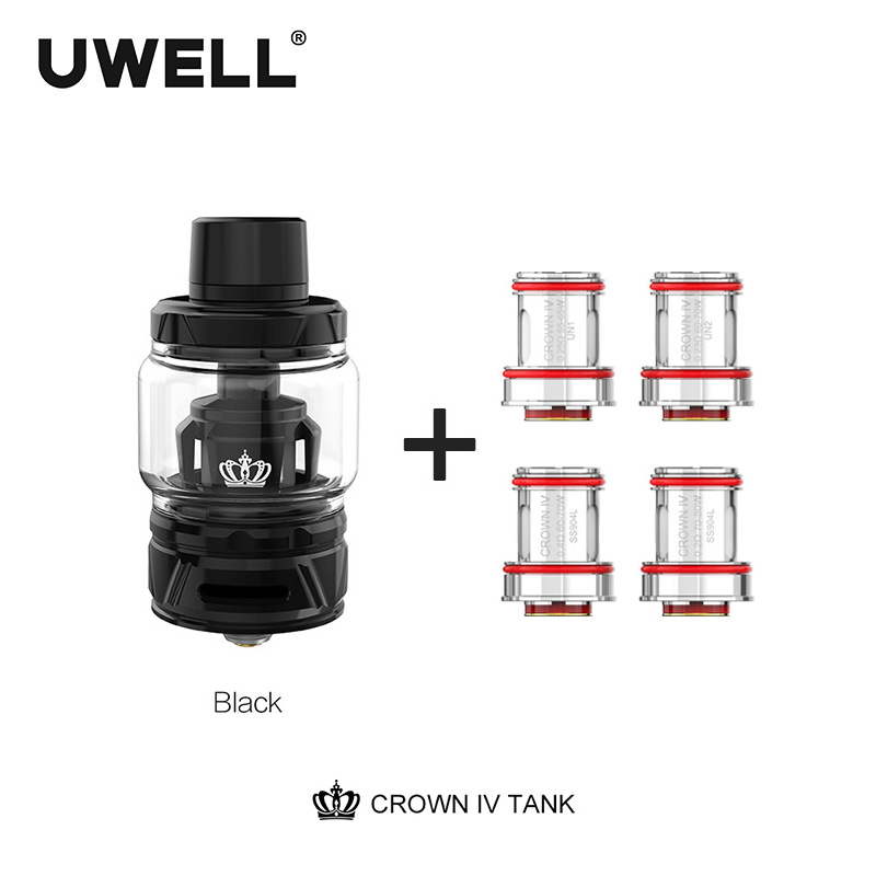 Uwell Crown 4 Tank With Dual SS904L Coil self cleaning technology 2ml 6ml Crown IV Atomizer