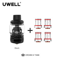 Uwell Crown 4 Tank With Dual SS904L Coil & self cleaning technology 2ml /6ml Crown IV Atomizer Subtank E cigarette Vaporizer