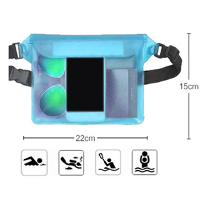 Waterproof Sports Bag Waist Bag Swimming Drifting Diving Waist Fanny Pack Pouch Underwater Sealing Mobile Phone Pouch Pocket