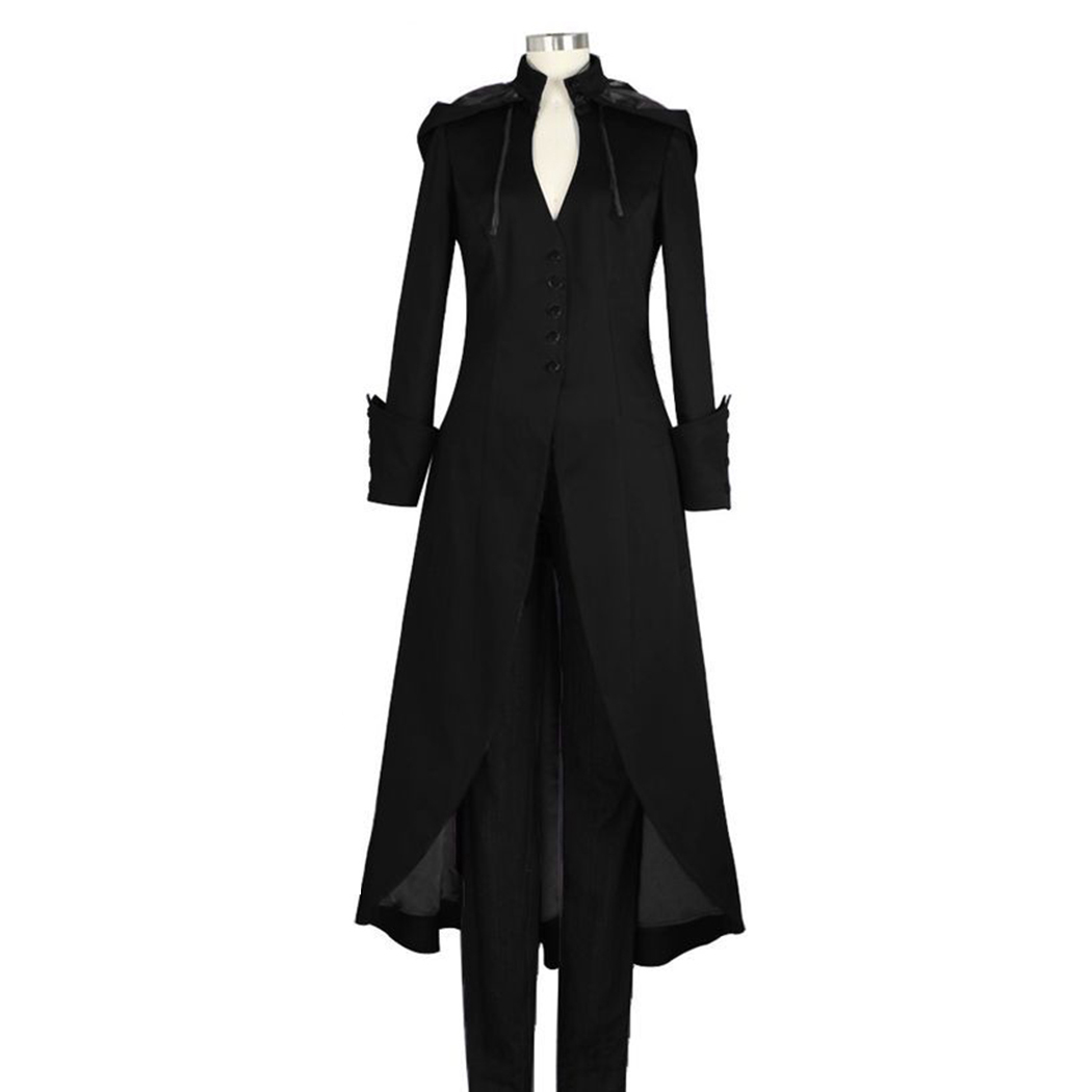 2018 Herbst Gothic Frauen Vintage Lange Hülse Mit Kapuze Graben Mantel Agiert Damen Winter Mantel Plus Größe Manteau Femme