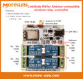 Rápido Envío Gratis 2 unids LinkNode R4: para compatible con Arduino controlador de relé inalámbrico/ESP-12f ESP8266 WiFi módulo 4 relés de Canal