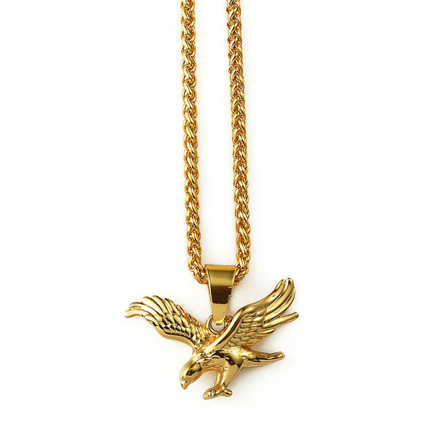 Fashion jewelry gold eagle bird pendant necklace gold planted fashion jewelry gold eagle bird pendant necklace gold planted necklaces link chain statement necklaces for women aloadofball Images