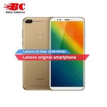 Lenovo K5 Примечание сканер отпечатков пальцев 4G смартфон 4G B Оперативная память + 6 4G B Встроенная память Snapdragon 450 Восьмиядерный двойной сзади Камера 16MP OTG 3760 мАч gps OTG