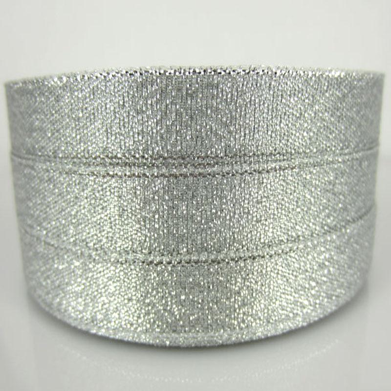 """1/"""" 12 мм серебро/золото органза Блестящая лента вечерние свадебные для упаковки подарков Рождественская лента с бантом 250 ярдов"""