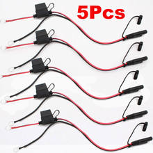 7 5a fuse 5 pcs battery charger cables ring terminal harness sae 2 pin  quick disconnect plug quick connect wires