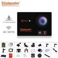 Crelander T9 Video Camera 4K Waterproof Wifi Action Camera Remote Control HD 2 0 Touch Screen