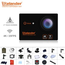 Crelander T9 Video Camera 4K Waterproof Wifi Action Camera Remote Control HD 2.0 Touch Screen Camcorder 170 Wide Angle Sport Cam