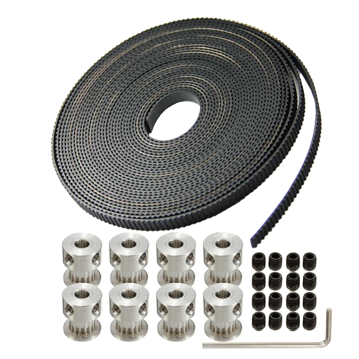 8pcs GT2 Pulley 20Teeth Bore5mm 5M GT2 Belt font b 3D b font font b Printer